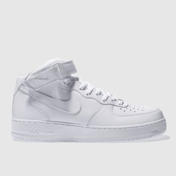 Nike White Air Force 1 Mid Trainers