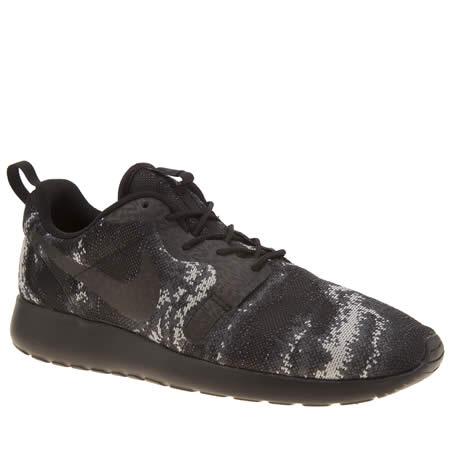 bdblu Mens Black & Grey Nike Roshe One Kjcrd Trainers | schuh