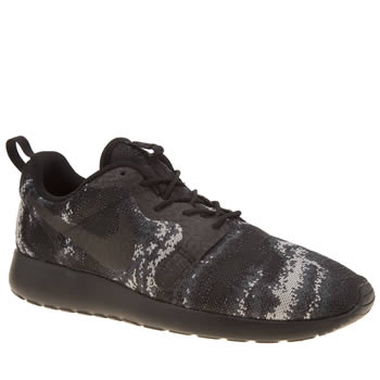 Nike Black & Grey Roshe One Kjcrd Mens Trainers