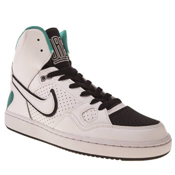 Nike White & Black Son Of Force Trainers