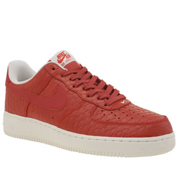 Nike Red Air Force 1 07 Lv8 Mens Trainers