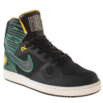 mens nike navy & green son of force trainers