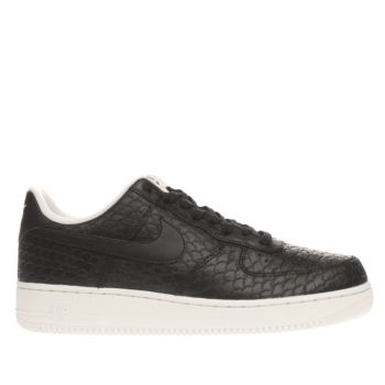 Nike Black & White Air Force 1 07 Lv8 Mens Trainers