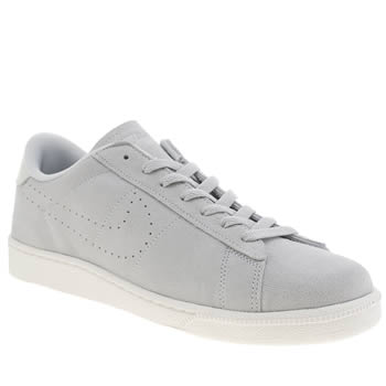 Mens Nike Light Grey Tennis Classic Suede Cs Trainers
