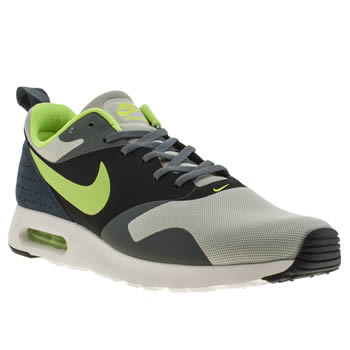 Mens Nike Grey & Lime Air Max Tavas Trainers
