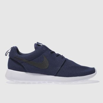 Mens Nike Navy & Black Roshe Run Trainers