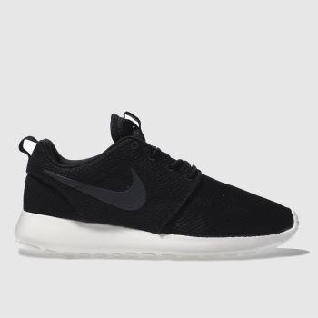 mens nike black & white roshe run trainers