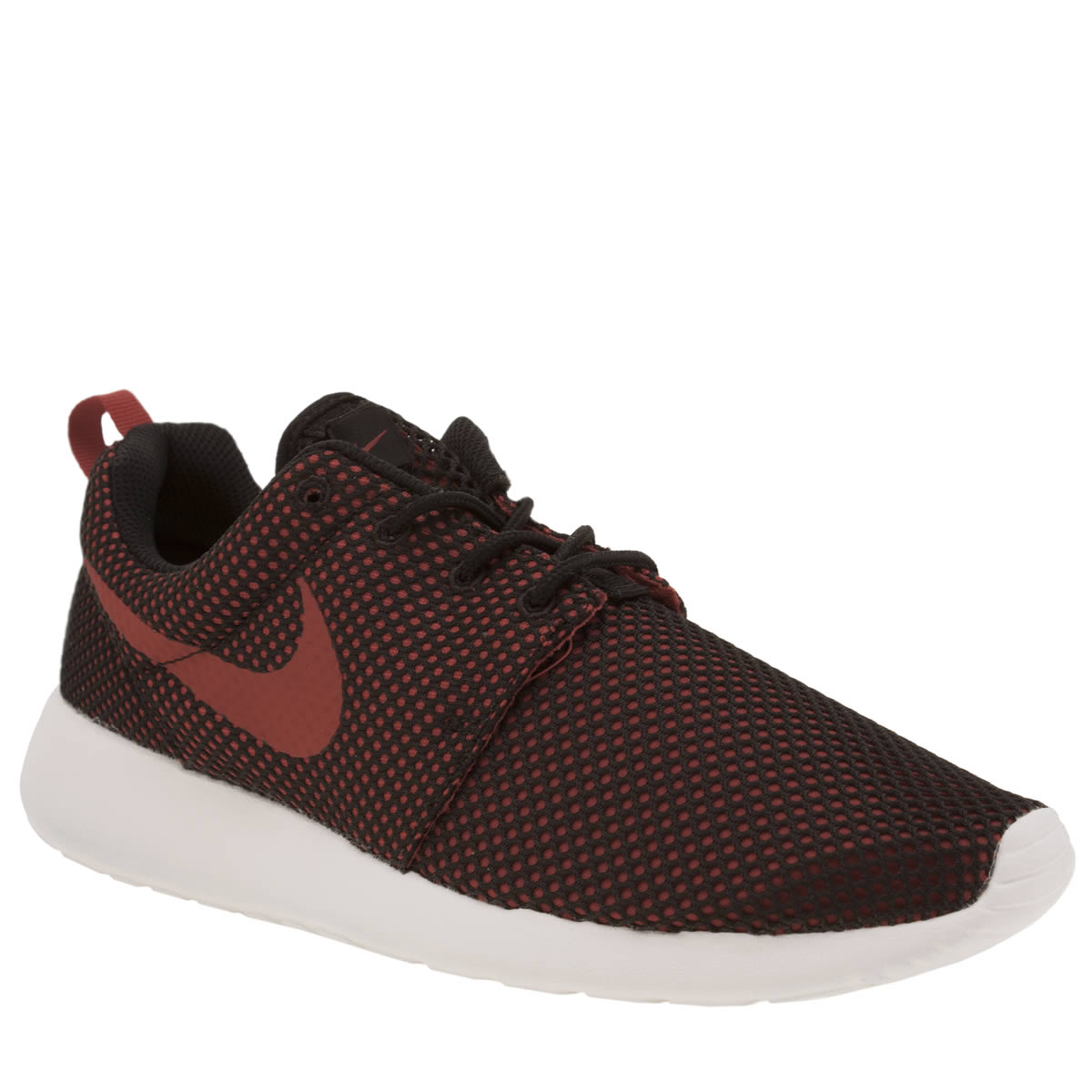 ageif Mens Black & Red Nike Roshe One Trainers | schuh