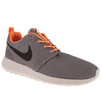 mens nike grey & black rosherun trainers