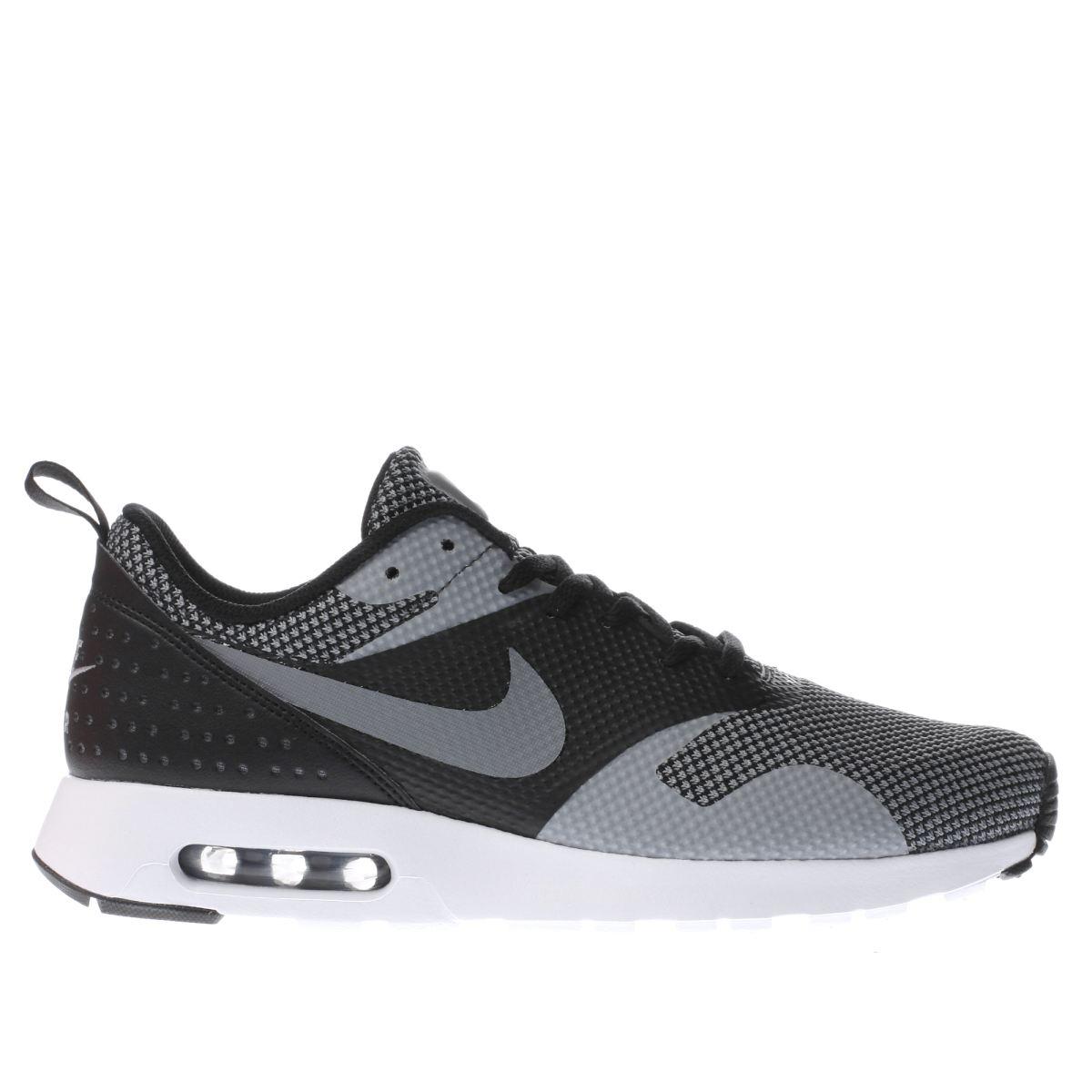 nike black & grey air max tavas premium trainers
