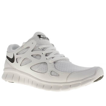 Mens Nike White & Black Free Run V2 Trainers