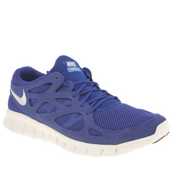 Mens Nike Blue Free Run 2 Trainers