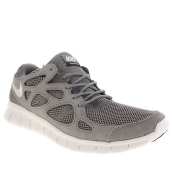 Mens Nike Dark Grey Free Run V2 Trainers