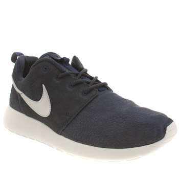 Mens Nike Navy Roshe Run Suede Trainers