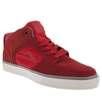 Mens Lakai Red Teleford Echelon Trainers