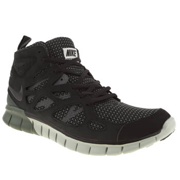 Nike Black Free Run V2 Mid Trainers