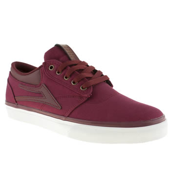 Mens Lakai Burgundy Griffin Trainers