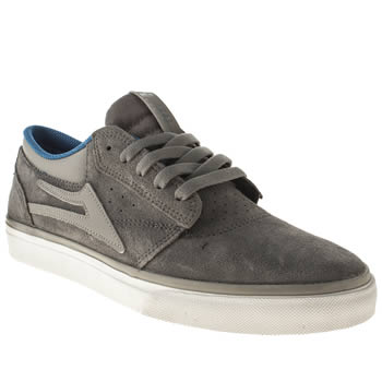 Mens Lakai Light Grey Griffin Trainers