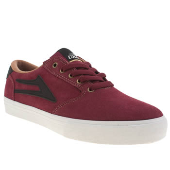 Mens Lakai Burgundy Pico Trainers