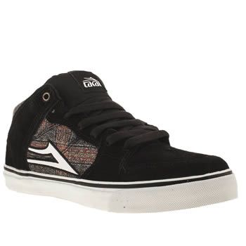 mens lakai black & white carroll select trainers