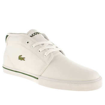 Mens Lacoste White & Green Ampthill Trainers