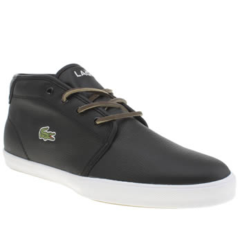mens lacoste black ampthill trainers