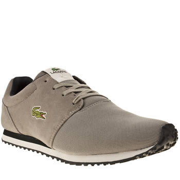 mens lacoste grey & navy accelero trainers