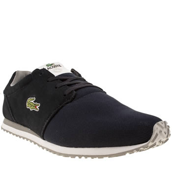 mens lacoste navy & grey accelero trainers