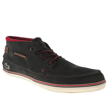Mens Lacoste Navy & Red Meyssac Trainers