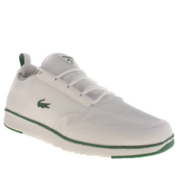 Mens Lacoste White & Green L.ight Lt12 Trainers