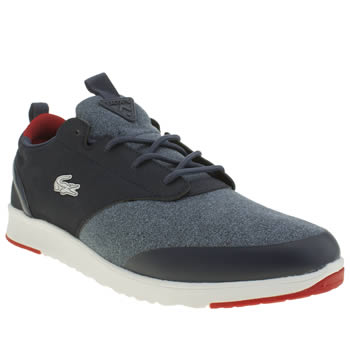 Mens Lacoste Navy & Red Light Lt12 Trainers