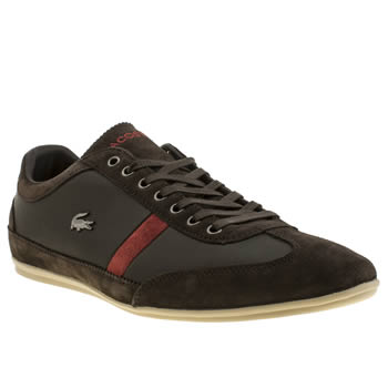 Mens Lacoste Dark Brown Misano 22 Trainers