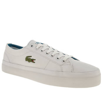 mens lacoste white marcel chunky trainers