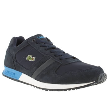 Mens Lacoste Navy & Pl Blue Vauban Trainers