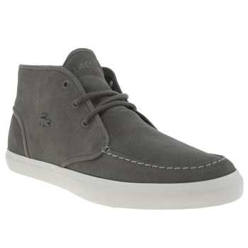 Lacoste Dark Grey Sevrin Mid 316 Trainers