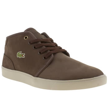 mens lacoste dark brown benoit pwt trainers