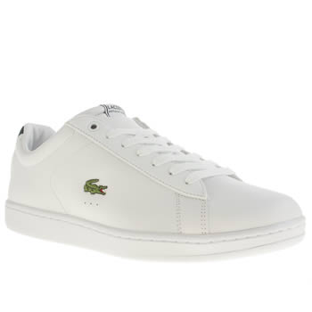 mens lacoste white carnaby trainers