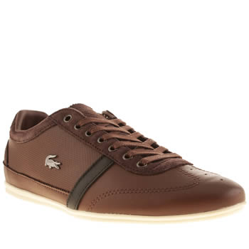 Lacoste Dark Brown Misano 31 Trainers