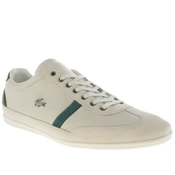 Mens Lacoste Light Grey Misano 32 Trainers