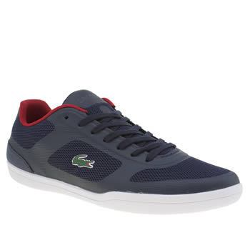Lacoste Navy & Red Court Minimal 316 Trainers