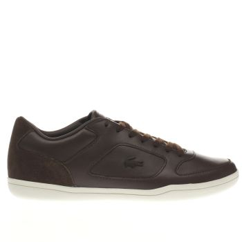 Lacoste Dark Brown Court Minimal Trainers