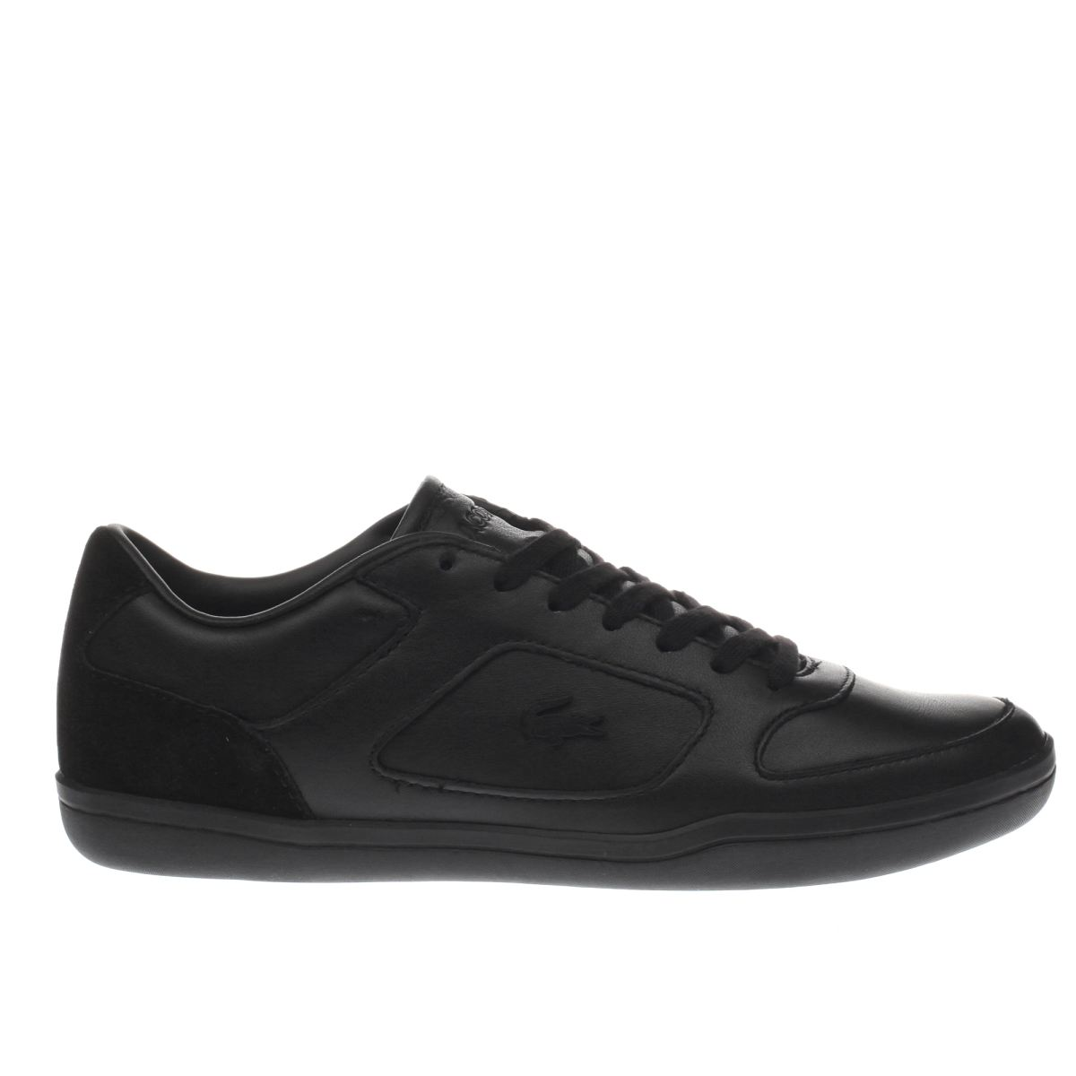 lacoste black court minimal trainers