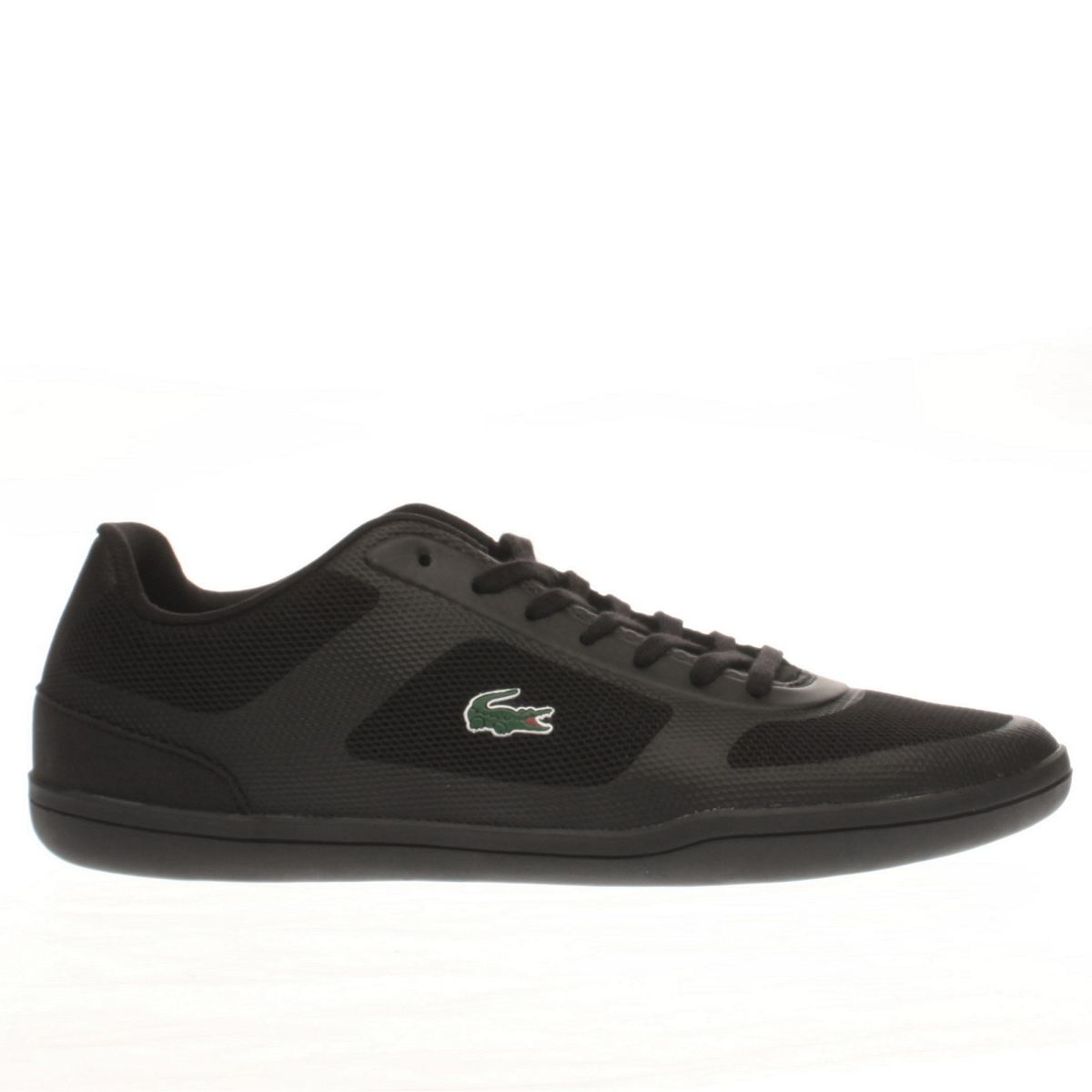 lacoste black court minimal 316 trainers