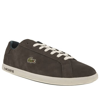 Mens Lacoste Grey & Navy Graduate Trainers
