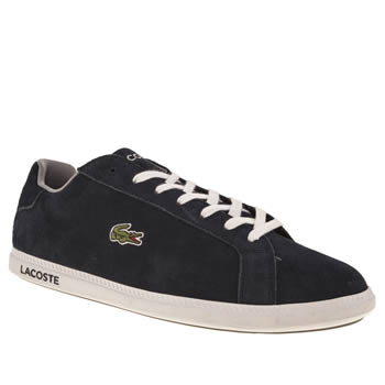Mens Lacoste Navy & Grey Graduate Trainers