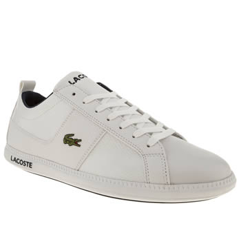 mens lacoste white observe trainers