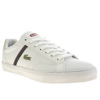 Mens Lacoste White & Navy Fairlead Trainers