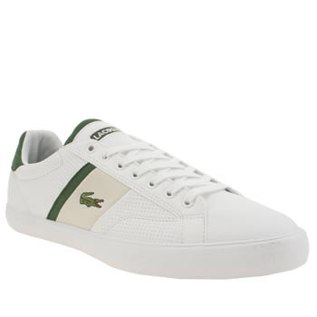 Mens Lacoste White & Green Fairlead Trainers