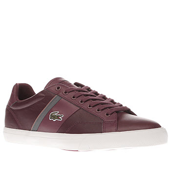 Lacoste Burgundy Fairlead Mens Trainers