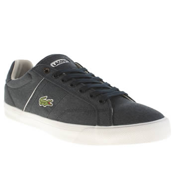 Mens Lacoste Navy & White Fairlead Trainers